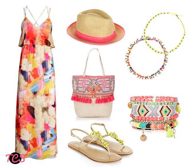 outfit spiaggia hm accessorize cappello borsa sandali infradito curvy outfit collage curvysalad