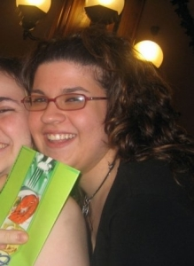 Con una amica nel 2008
